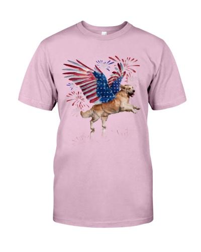 Golden Retriever Wings of Liberty