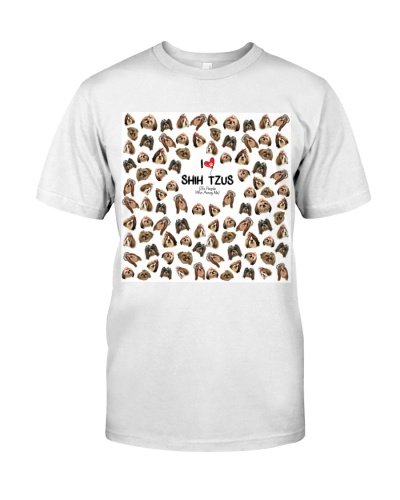Shih tzus people annoy me all over shirt