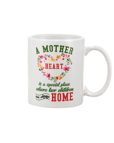A mother heart mug