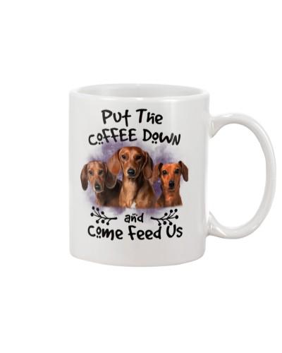 Dachshund Put The Coffee Down