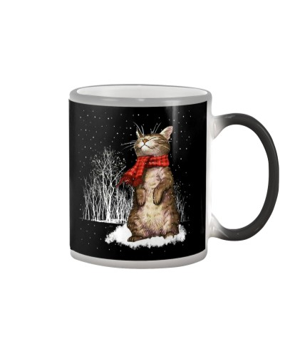 Cat Snow Color Changing Mug