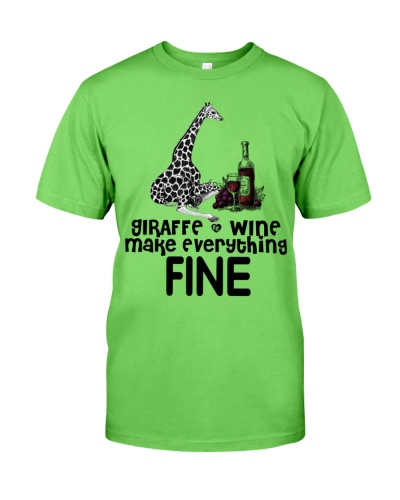 Giraffe And Wine