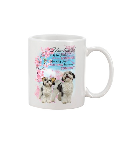 Shih tzu  how beautiful mug