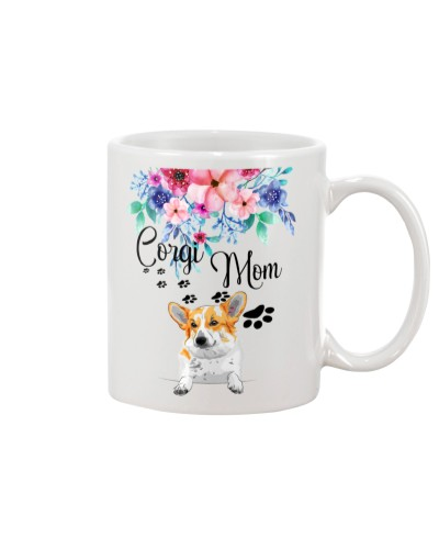 Corgi flowers mug