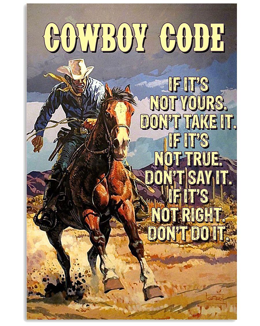 Cowboy Code 11x17 Poster
