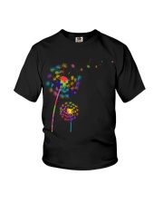 Dandelion Autism Awareness Month Flower Puzzle Youth T-Shirt thumbnail