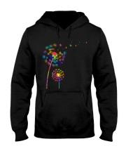 Dandelion Autism Awareness Month Flower Puzzle Hooded Sweatshirt thumbnail