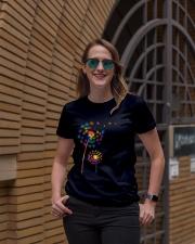 Dandelion Autism Awareness Month Flower Puzzle Ladies T-Shirt lifestyle-women-crewneck-front-2