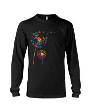 Dandelion Autism Awareness Month Flower Puzzle Long Sleeve Tee thumbnail