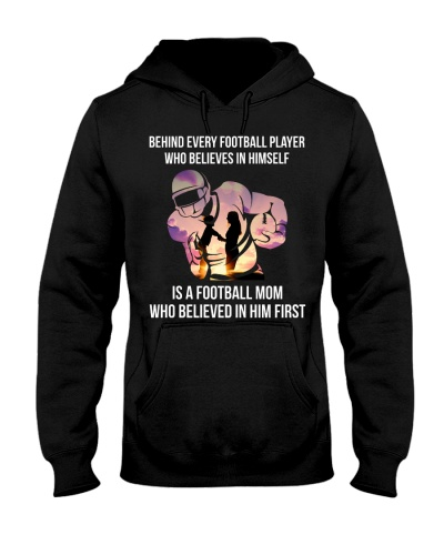 Behind Every Football Player Football Mom Gift