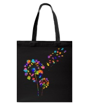 Flower Puzzle Pieces Dandelion Autism Awareness Tote Bag thumbnail