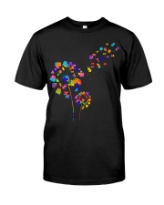 Flower Puzzle Pieces Dandelion Autism Awareness Classic T-Shirt thumbnail