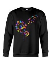 Flower Puzzle Pieces Dandelion Autism Awareness Crewneck Sweatshirt thumbnail