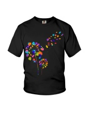 Flower Puzzle Pieces Dandelion Autism Awareness Youth T-Shirt thumbnail