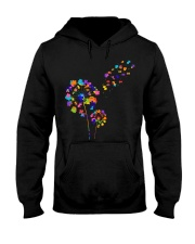 Flower Puzzle Pieces Dandelion Autism Awareness Hooded Sweatshirt thumbnail