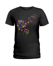 Flower Puzzle Pieces Dandelion Autism Awareness Ladies T-Shirt front