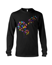 Flower Puzzle Pieces Dandelion Autism Awareness Long Sleeve Tee thumbnail