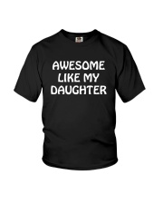 Fathers Day Gift From Daughter Daddy Stepdad Dad P Youth T-Shirt thumbnail