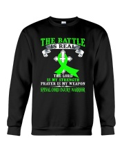 The battle is real SPINAL CORD INJURY warrior tshi Crewneck Sweatshirt thumbnail