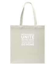 Introverts Unite T Shirt Tote Bag thumbnail