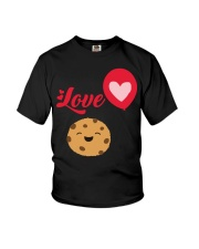 Cute Funny I Love Chocolate Chip Cookies Youth T-Shirt front