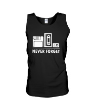 Never Forget T Shirt Cool funny floppy disk vhs 90 Unisex Tank thumbnail