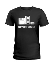 Never Forget T Shirt Cool funny floppy disk vhs 90 Ladies T-Shirt thumbnail