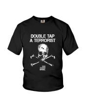Double Tap A Terrorist TShirt American Infidel Youth T-Shirt thumbnail