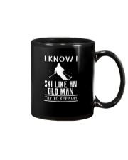 I Know I Ski Like An Old Man Try to Keep Up T Shir Mug thumbnail