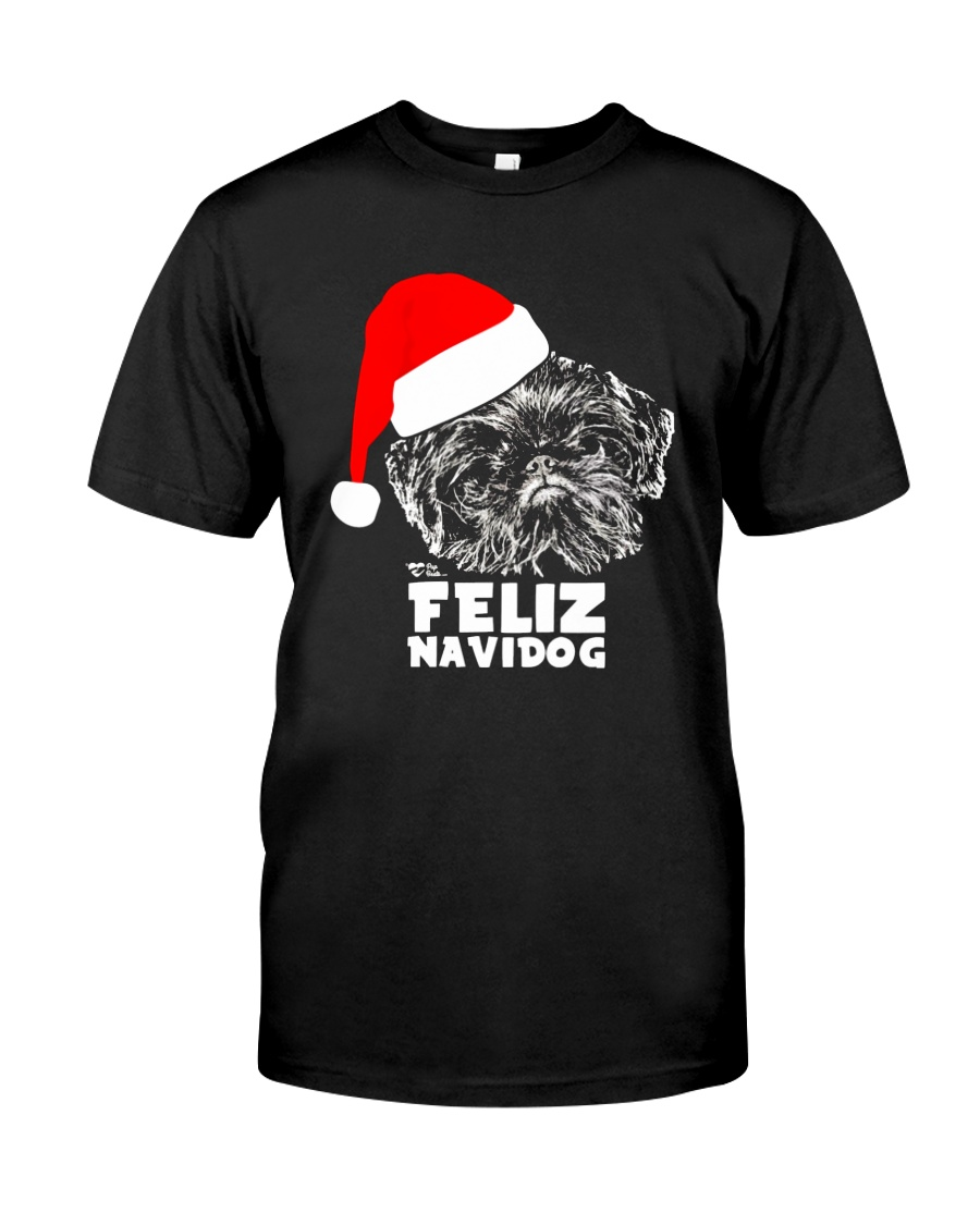 Brussels Griffon Cute Feliz Navidog Christmas Classic T-Shirt