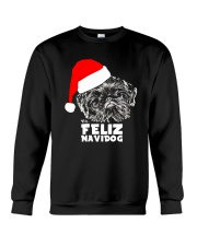 Brussels Griffon Cute Feliz Navidog Christmas Crewneck Sweatshirt thumbnail