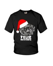 Brussels Griffon Cute Feliz Navidog Christmas Youth T-Shirt thumbnail