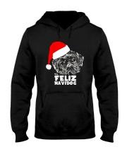 Brussels Griffon Cute Feliz Navidog Christmas Hooded Sweatshirt thumbnail
