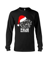 Brussels Griffon Cute Feliz Navidog Christmas Long Sleeve Tee thumbnail