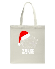 Brussels Griffon Cute Feliz Navidog Christmas Tote Bag thumbnail