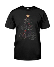 Vintage Christmas Tree Bicycle Bike Love Xmas Gift Classic T-Shirt front