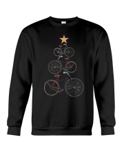 Vintage Christmas Tree Bicycle Bike Love Xmas Gift Crewneck Sweatshirt thumbnail