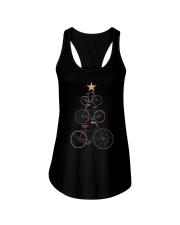 Vintage Christmas Tree Bicycle Bike Love Xmas Gift Ladies Flowy Tank thumbnail