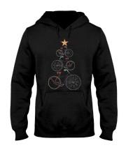 Vintage Christmas Tree Bicycle Bike Love Xmas Gift Hooded Sweatshirt thumbnail