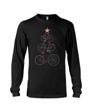Vintage Christmas Tree Bicycle Bike Love Xmas Gift Long Sleeve Tee thumbnail