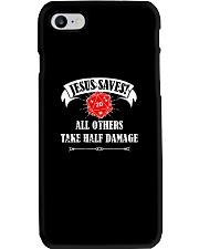 Funny DND Jesus Saves Shirt Dungeon RPG Boardgame Phone Case thumbnail