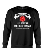 Funny DND Jesus Saves Shirt Dungeon RPG Boardgame Crewneck Sweatshirt thumbnail