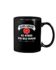 Funny DND Jesus Saves Shirt Dungeon RPG Boardgame Mug thumbnail