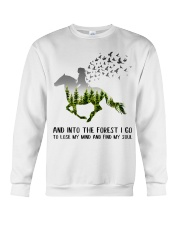 And Into The Forest I Go To Lose My Mind Horse Crewneck Sweatshirt thumbnail