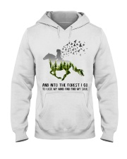 And Into The Forest I Go To Lose My Mind Horse Hooded Sweatshirt thumbnail