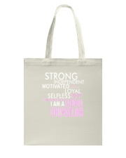 Motivated Selfless School Counselor T Shirt Tote Bag thumbnail