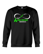 Hope Fight Cure SPINAL CORD INJURY Awareness Crewneck Sweatshirt thumbnail