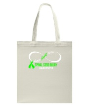 Hope Fight Cure SPINAL CORD INJURY Awareness Tote Bag thumbnail