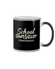 Cute School Counselor Funny Chaos Coordinator  Color Changing Mug thumbnail