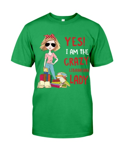 I Am The Crazy Librarian Lady Book Lovers Gift